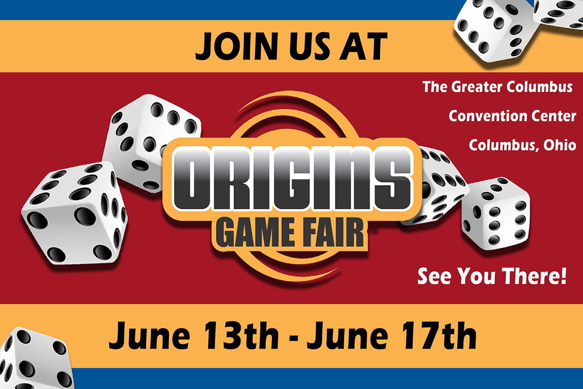 Join us at Origins!