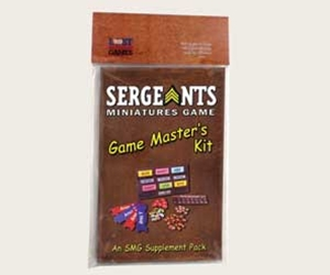 Sergeants Miniatures Game Game Master Kit allows Sergeants to easily expand to 6 or more players.