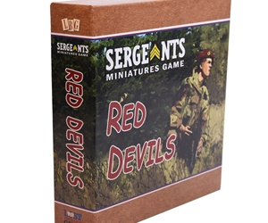 Sergeants Miniatures Game Red Devils recreates skirmish warfare during the Airborne invasion of Normady in World War 2.