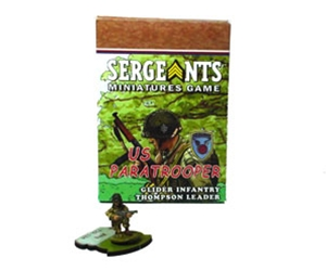 Sergeants Miniatures Game Soldiers Each US Paratrooper Glider Thompson Specialist Leader comes as a private soldier, junior NCO and senior sergeant.