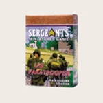 Sergeants Miniatures Game Soldiers Each US Paratrooper M2 Carbine armed leader comes as a private soldier, junior NCO and senior sergeant.