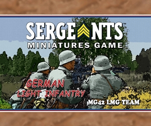 SMG - German Light Infantry MG42 Team