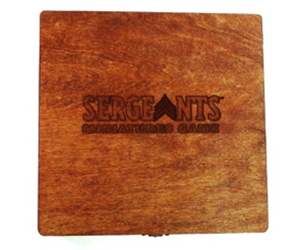 Wooden squad box used to hold the miniatures for Sergeants.