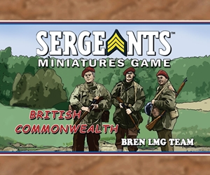 Sergeants Commonwealth Parachute Infantry Bren Team